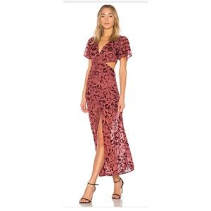 Lover + Friends Tatum Sangria Maxi Dress
